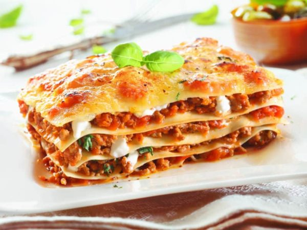 Lasagne alla Parmiggiana et sa petite salade verte