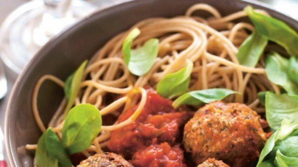Polpettine de Lombardie (au gorgonzola AOP) et spaghetti frais aux œufs artisanaux frais