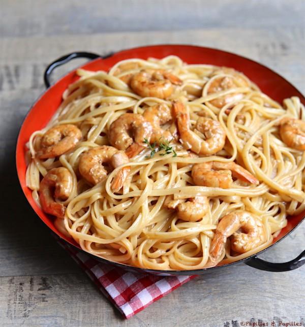 Spaghetti aux gambas